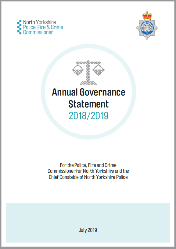 Cover of the Annual Governance Statement 2017-2018