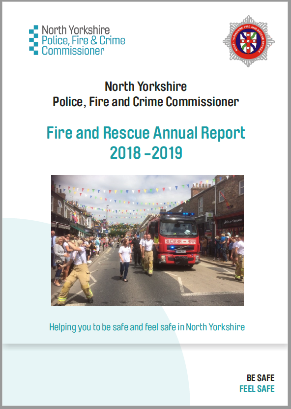 Front cover of the Fire and Rescue Annual Report 2018 - 2019