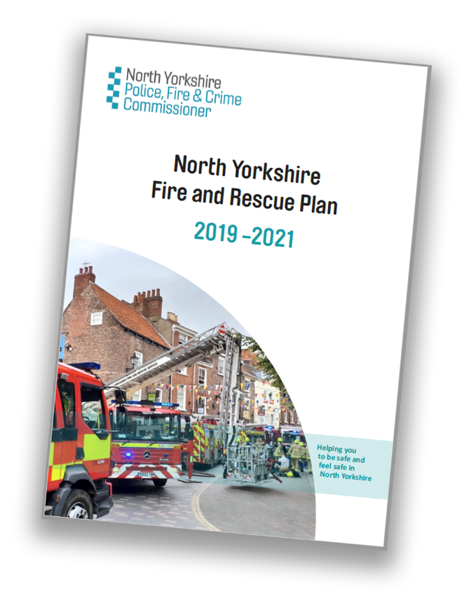 North Yorkshire Fire and Rescue Plan - front cover - click to download plan