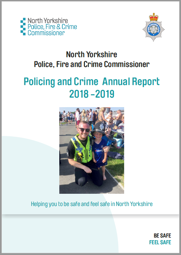 Policing and Crime Annual Report - front cover.