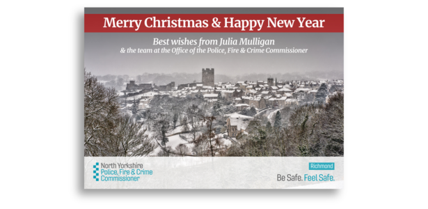 Merry Christmas and a happy new year. Best wishes from Julia Mulligan and the team at the Office of the North Yorkshire Police, Fire and Crime Commissioner
