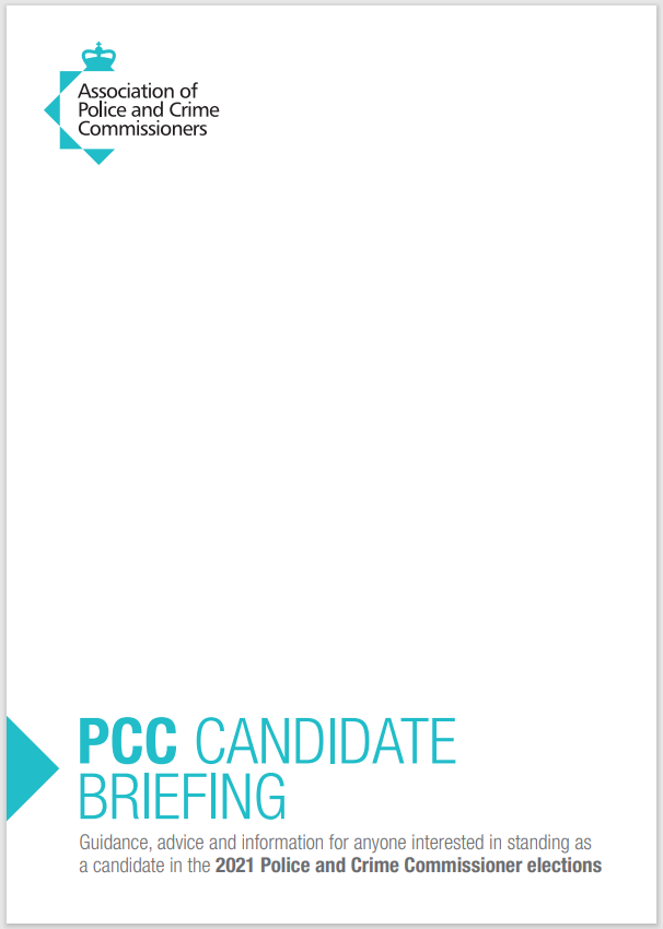 APCC 2021 PCC Candidate briefing pack - front cover
